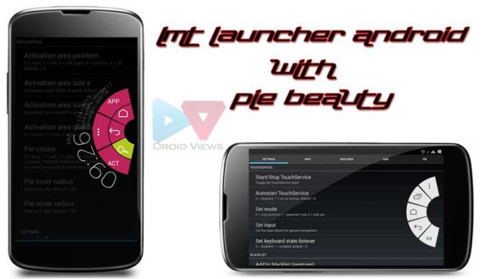 LMT Launcher with Pie Style