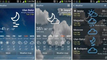 galaxy s4 accuweather