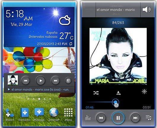 Galaxy S4 Music Player