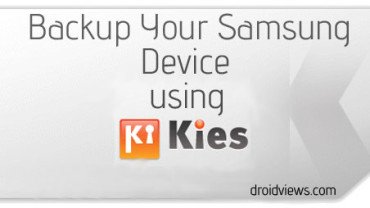 How to Backup and Restore Data Using Kies: