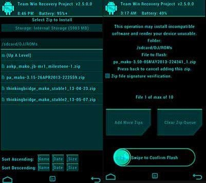 [TUTO] [SM-N9005]  TWRP Recovery : Explorations et Explications Install