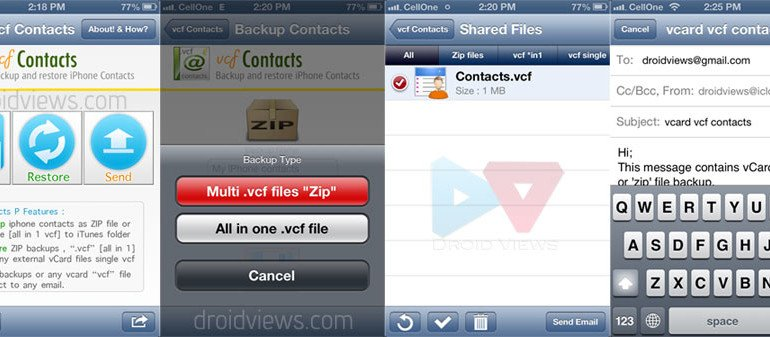 iphone contacts to android